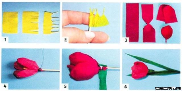 Сделать цветок с конфетой из бумаги своими